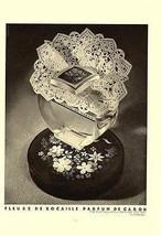 Perfume AD Fleurs De Rocaille Parfum De Caron 1937 Depose Art Deco Graph... - $18.99