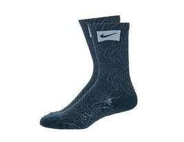 Nike Tiger Stripe Crew Socks Blue SX4806-440 - $7.99