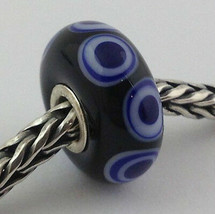 Authentic Trollbeads Ooak Murano Glass Unique Bead Charm #300, 15mm Diam... - $34.89