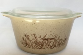 Pyrex Forest Fancies Casserole Dish 473 B Covered Baking With Lid One Qu... - $16.78