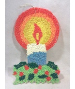 Vintage Mid-Century Plastic Popcorn Candle Wall Hanging - $44.79