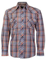 LW Men's Western Cowboy Pearl Snap Long Sleeve Cotton Rodeo Dress Shirt (2XL, 2)