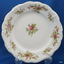 "Johann Haviland Moss Rose Bread and Butter Plate White Red Roses Gold Trim 6.25"" - $7.92"