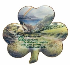 Franklin mint collector plate shamrock Hilary Scotfield laughter gold st... - £20.58 GBP