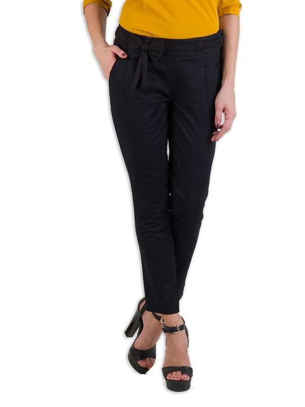 Rider Republic Women's Black Flat Front Stretch Pant