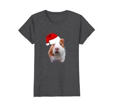 Funny Guinea Pig with Santa Hat Christmas T-Shirt - $19.99+