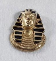 Vintage Signed Erwin Pearl Enamel Egyptian King Tut Pharaoh Pendant Broo... - $23.96