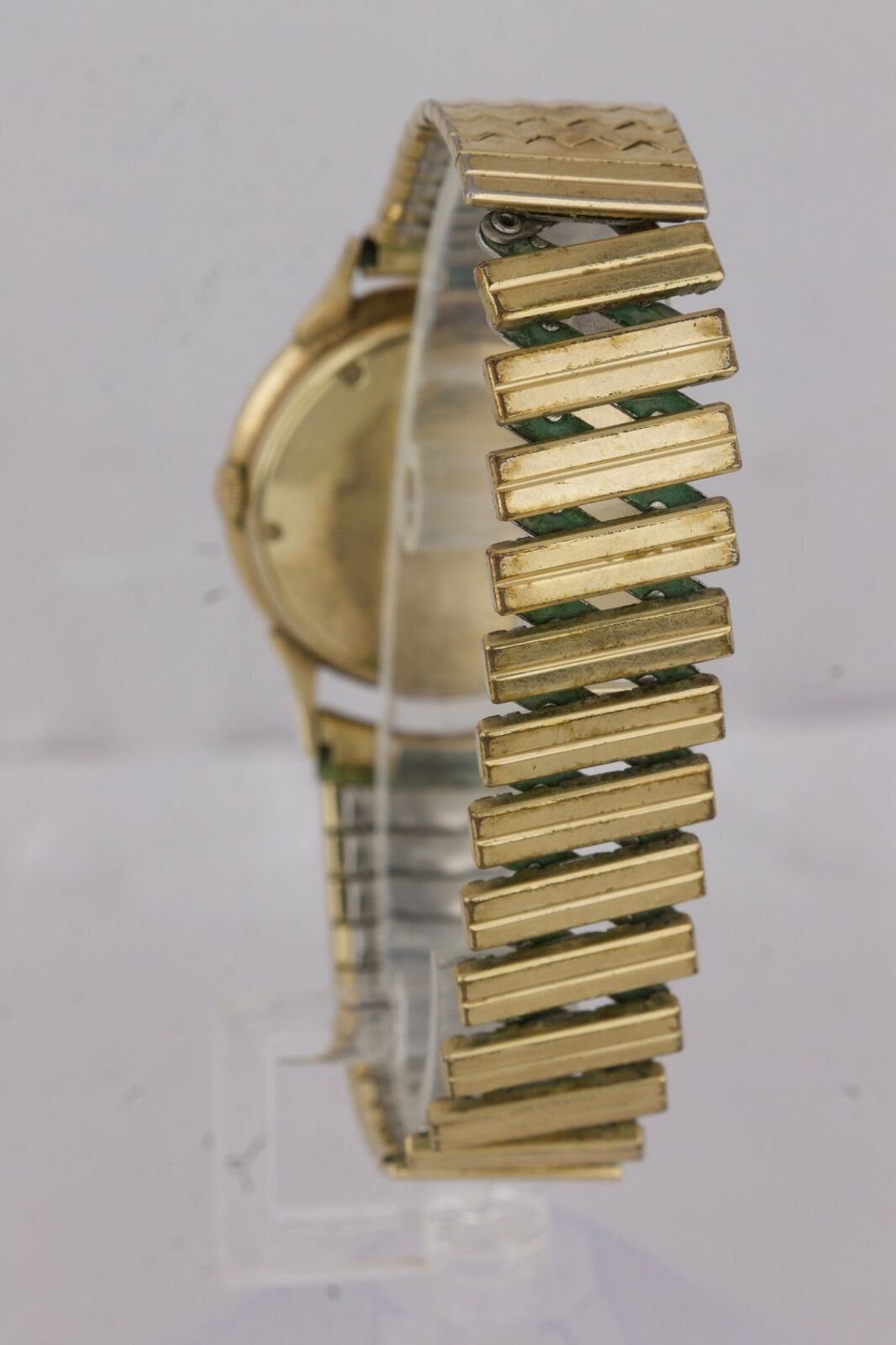 Vintage Jaeger LeCoultre 10K Yellow Gold Filled Dress Silver Lugs Watch 34mm image 4