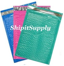 3-300 #0 6x10 ( Blue Teal & Pink ) Color Poly Bubble Mailers Fast Shipping - $3.49+