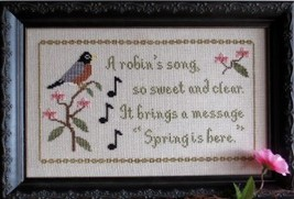 Bird of Spring seasonal cross stitch chart Stitches Through Time  - $10.80