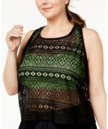 Go Gossip Women's Plus Size Global Girl Crochet Layered-Look Black 3X - $63.36