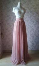 DEEP BLUSH Women Tulle Skirt Blush Floor Length Tulle Skirt Bridesmaid Skirt image 1