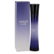 Armani Code by Giorgio Armani Eau De Parfum Spray 2.5 oz for Women #430706 - $81.43