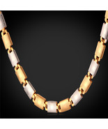 """Necklaces, """"18K"""" Gold Stamp Pu 18K Gold Plated 55CM 6MM N827 - $23.99+"""