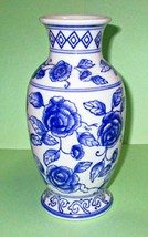 """Blue Flower Porcelain Vase by Ganz 7 3/4"""" Inches Tall - $8.95"""