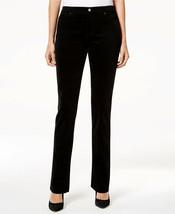 NWT Charter Club Petite Black Lexington Corduroy Pants Cords Tummy Slimm... - $14.84
