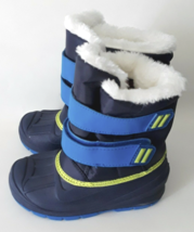 Cat & Jack Toddler Boys Blue Lev Faux Fur Thermolite Insulted Winter Snow Boots image 5