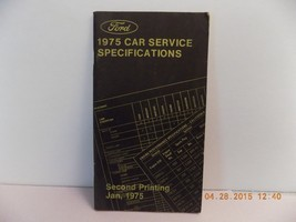 1975 FORD LINCOLN MERCURY CAR SERVICE SPECIFICATION BOOK MUSTANG TORINO ... - $3.80