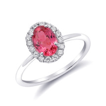 Natural Neon Tanzanian Spinel 1.11 carats set in 14K White Gold Ring - $1,310.00