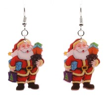 Fashion  Acrylic Santa Claus Dangle Earrings  Earrings snowman bells ear... - $8.03
