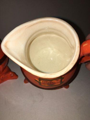 Vintage POTBELLY STOVE Sugar and Creamer Set -
