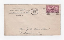 LATROBE PENNSYLVANIA MARCH 9 1937 - $1.78