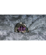 Vintage pink Ice stone Sterling silver ring Downton Abbey size 5.5 - $45.00