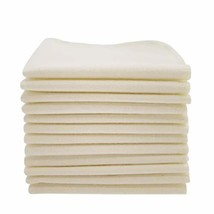 ImseVimse Organic Cotton Washable Reusable Baby Wipes 12 Pieces Natural
