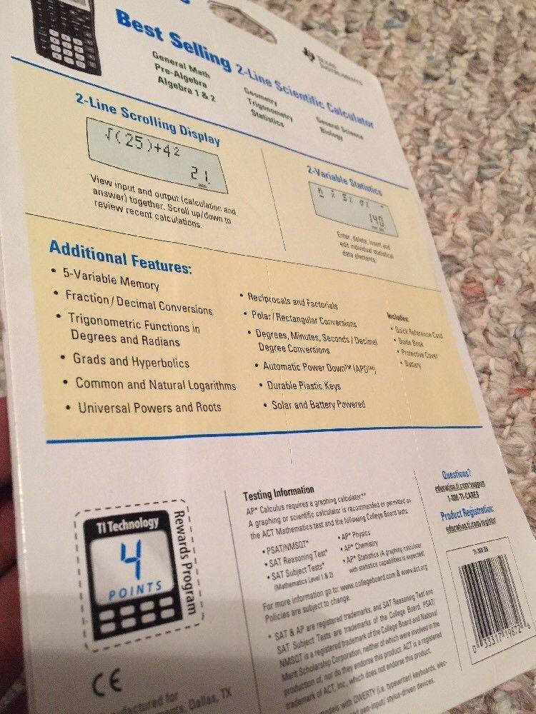 Texas Instruments Ti 30x Iis 2 Line And 50 Similar Items