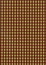 Gingham Check Checkered Wallcovering Burgundy Beige Wallpaper York PV5215 - $39.11