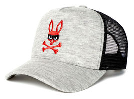 Psycho Bunny Men's Embroidered Snapback Mesh Mischief Baseball Cap Hat image 6