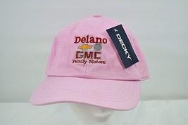 Delano GMC Family Motors Pink Baseball Cap Buckle Back ( NWT ) - $14.95