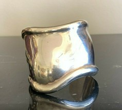 "Tiffany & Co. Elsa Peretti .925 Sterling Silver ""Bone"" Cuff Bracelet, It... - $891.00"