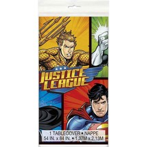 Justice League Plastic Table Cover  - £6.83 GBP