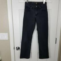 Lee Boys Size 16 Slim Straight Fit Black Jeans Adjustable Waistband  - $9.90