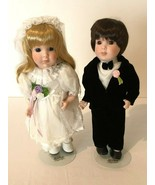 Marian Yu Designs Bride And Groom Porcelain Dolls Vintage 1990s MYD Inc ... - $29.99