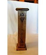 "Wooden Carved Matchstick Holder Trinket Box, 12.5"" Tall, Hand Made - $29.70"