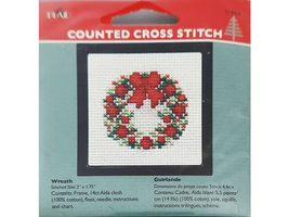 Plaid Counted Cross Stitch Kit With Frame, Set of 5 image 6