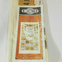 Vintage Barth & Dreyfuss 1984 Cotton Calendar Kitchen Tea Towel Garden o... - $19.95