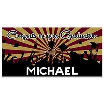 Burgundy and Gold Graduation Banner Personalized Class of 2018 Party Bac... - $416,92 MXN
