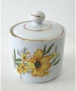 """Andrea Sadek, Small Lidded Storage Jar, Japan, 3 1/2"""", Floral Design, Gold Trim - $19.97"""
