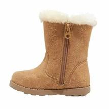 Cat & Jack Girls' Katrina Toddler Faux Fur Shearling Tall Brown Winter Boots NWT image 2