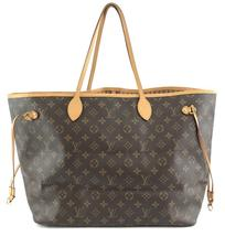 #32322 Louis Vuitton Neverfull Neo Nm Large Gm Tote Work Canvas Shoulder Bag image 3