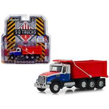 2019 Mack Granite Dump Truck Red, White and Blue S.D. Trucks Series 6 1/... - $32.59