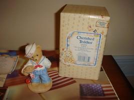 Cherished Teddies  USA Figurine - $11.99