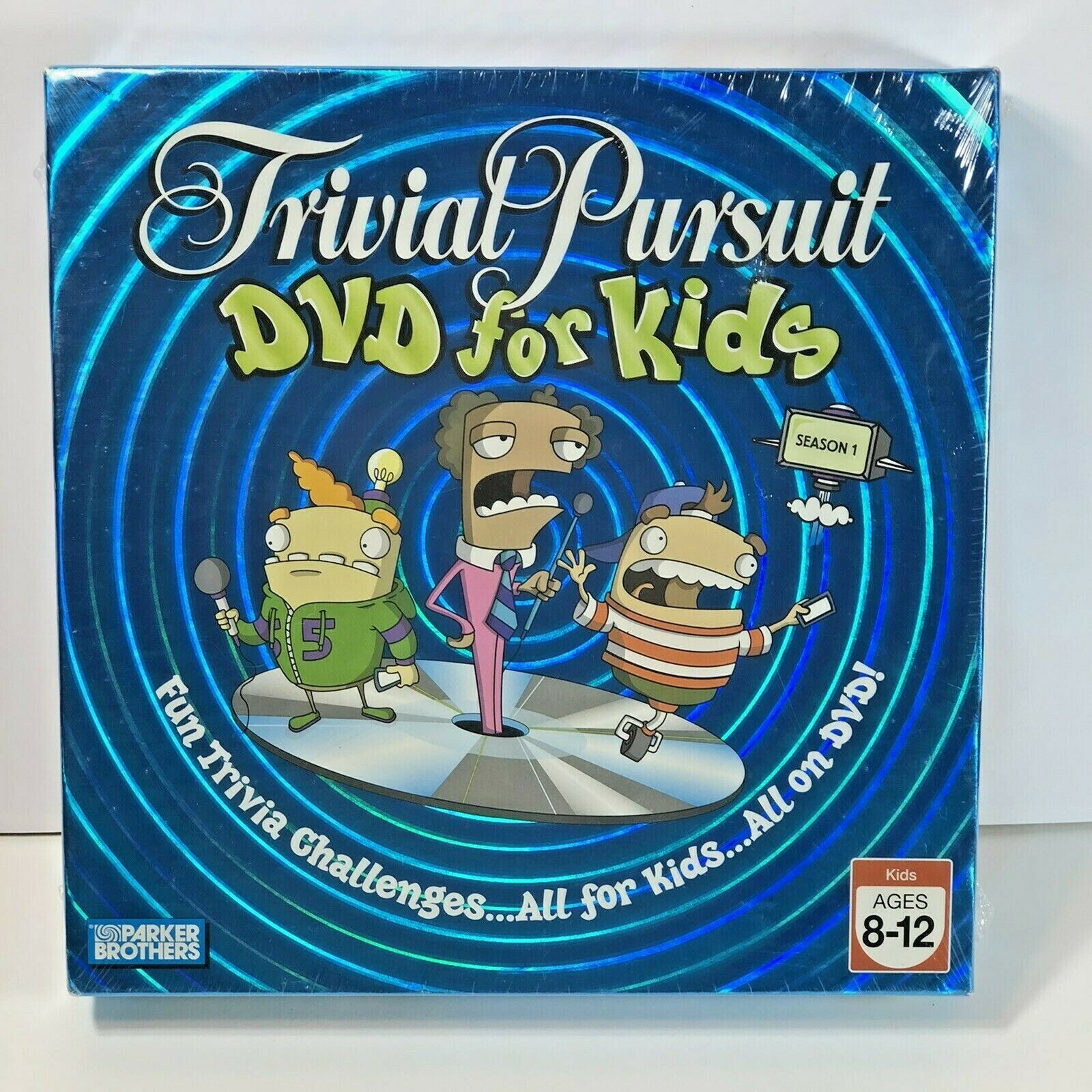 Primary image for Trivial Pursuit DVD for Kids Board Game 2006 Season 1 Ages 8-12 New In Box