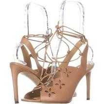 MICHAEL Michael Kors Thalia Sandal Lace Up Sandals, Toffee, 8.5 US / 39 EU - $41.29