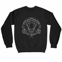 Harry Potter Slytherin Snake Outline Children's Unisex Black Sweatshirt - $25.07