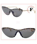 GUCCI STAR 0666 Black Gold Cat Eye Mask Rimless Runway Sunglasses GG0666... - $388.08