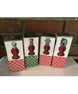 4 Vintage Avon Chess Pieces Full in Boxes - $9.99